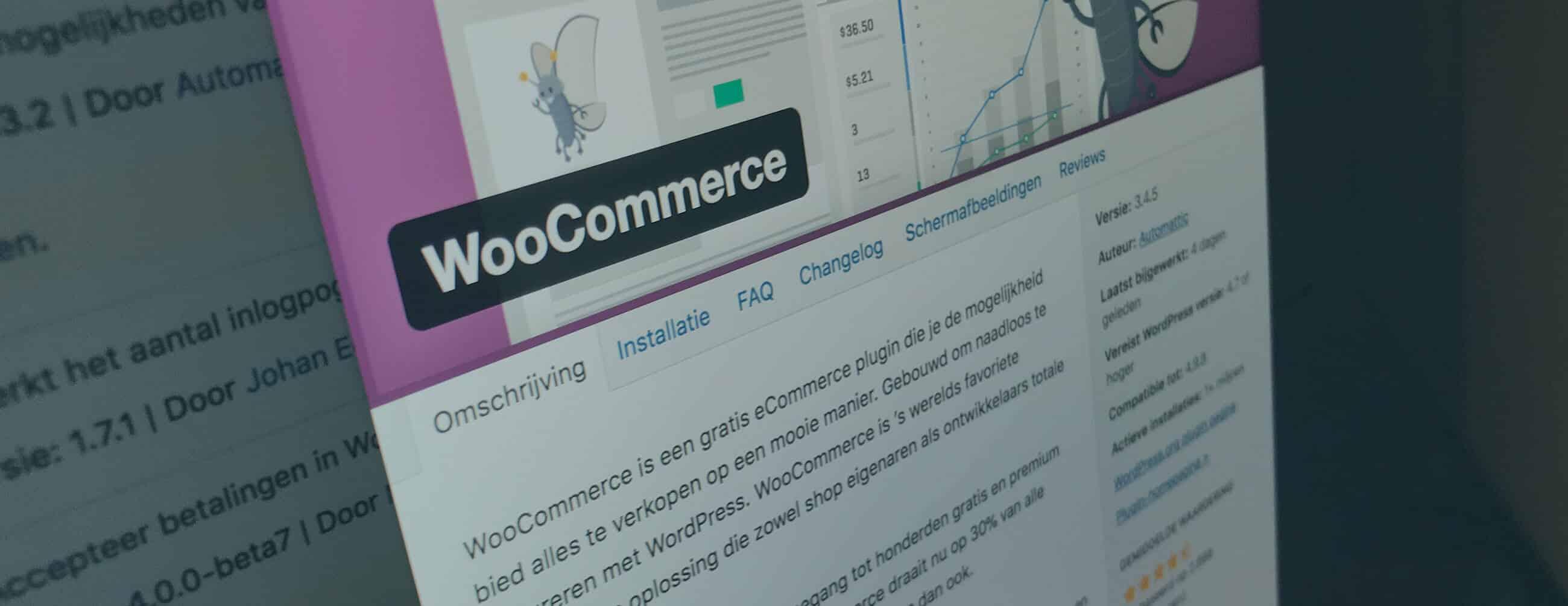 Woocommerce als basis voor online succes