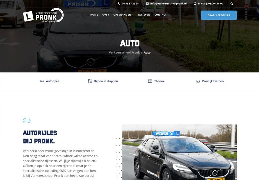 Rijschool-website